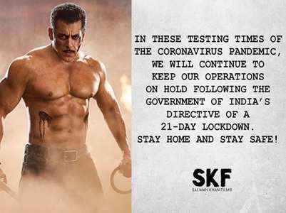 Salman's film company puts operations on hold
