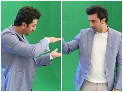 Ranbir looks engrossed in THESE BTS pics