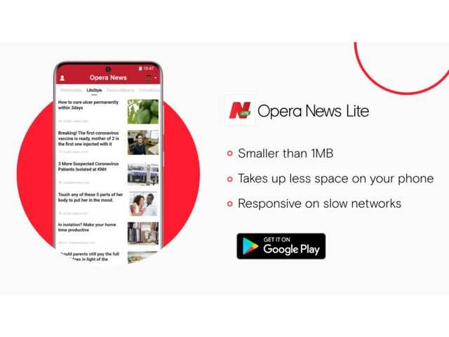 Opera News Lite app launched with less than 1MB download size