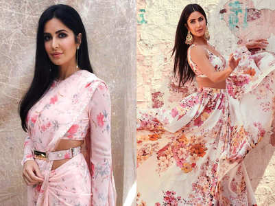 5 floral lehengas and saris worn by Katrina Kaif that are perfect for a summer bride