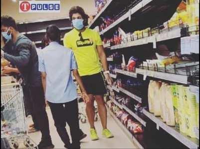 Amid lockdown, Allu Arjun buys groceries