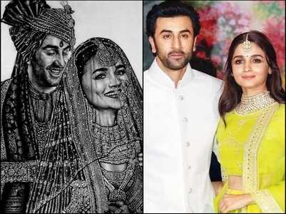 Fan creates Alia-Ranbir's wedding sketch
