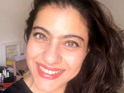 Kajol is spending quarantine with her lipstick and mascara and her picture is proof it's the best company to keep
