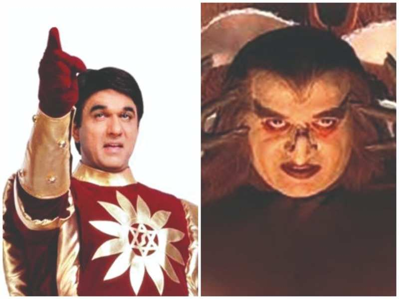 Mukesh Khanna and Surendra Pal as Shaktimaan and Kilvish
