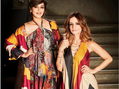 BFFs Sonali Bendre and Sussanne Khan twin for Femina and they look adorable