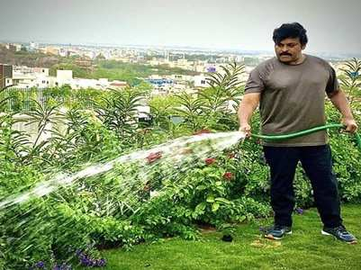 Chiranjeevi shares a pic of his 'morning duty'
