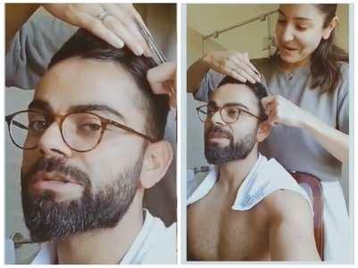 Watch: Anushka turns hairstylist for Virat