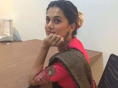 Taapsee looks beautiful dressed in a saree