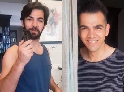 Karan V Grover goes clean shaven, see pic