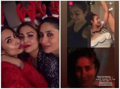 Malaika catches up with Bebo & Amrita