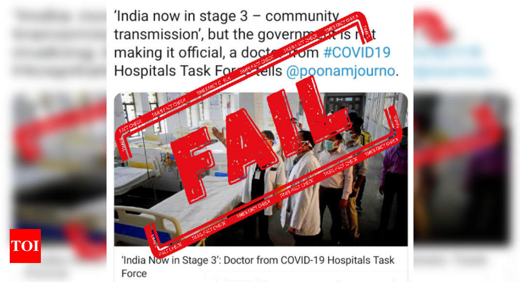 FAKE ALERT: Leading digital news portal falsely claims India in Stage 3 of Covid-19