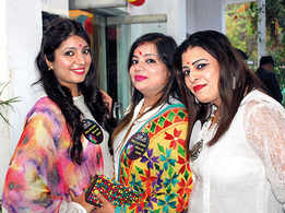 A colourful Holi party with white as the theme in Banaras