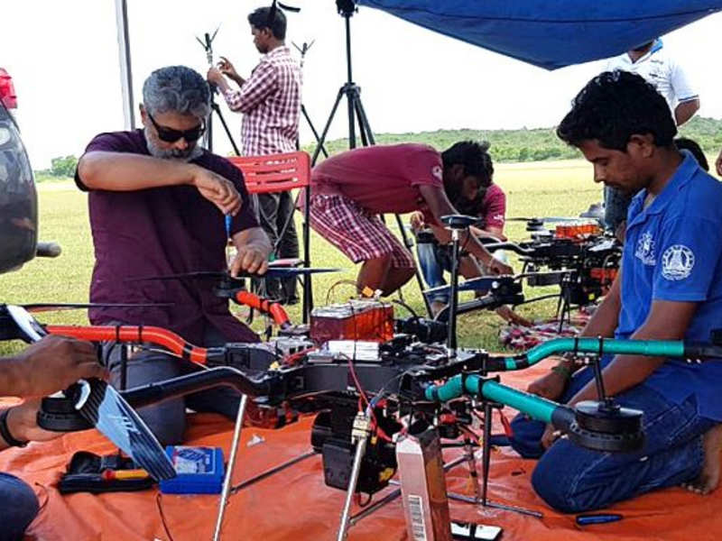 Ajith-mentored team Dhaksha uses drones to disinfect public places