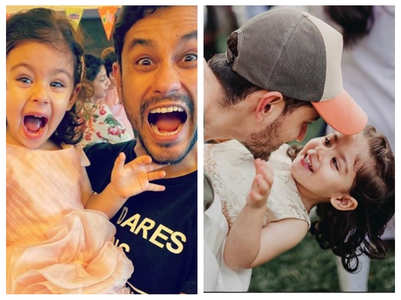 Pics: Inaaya is daddy's little girl