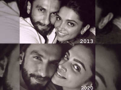 You can't miss DeepVeer's Then and Now pic