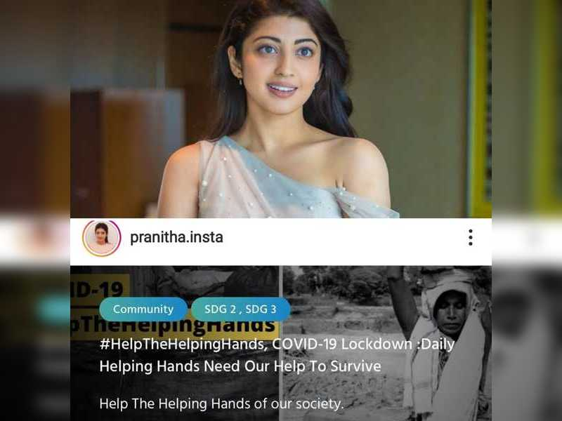 Pranitha Subhash lends a helping hand for those in need