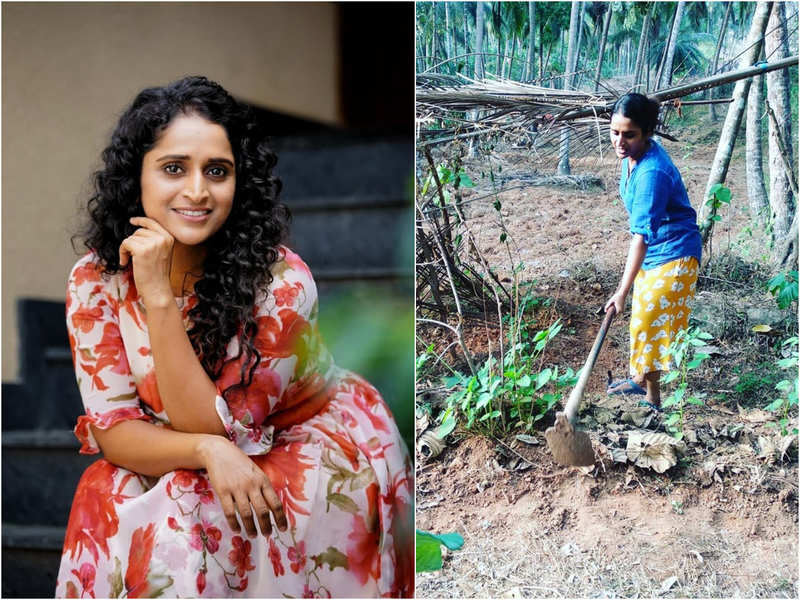 Back to roots: Surabhi Lakshmi is busy cleaning and farming