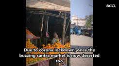Santra Market is all empty!