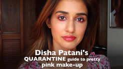 Disha Patani's quarantine guide to pretty pink make-up