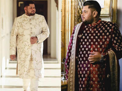 This plus-size groom proved size does not matter when you decide to look stylish on your wedding