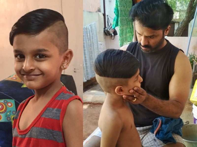 Pictures of director Gaurav Narayanan giving his son a haircut go viral