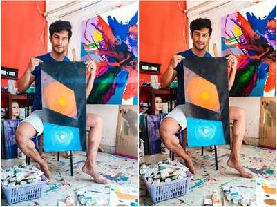 Sehban is brushing up his artistic skills