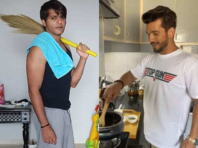 Male actors share household duties