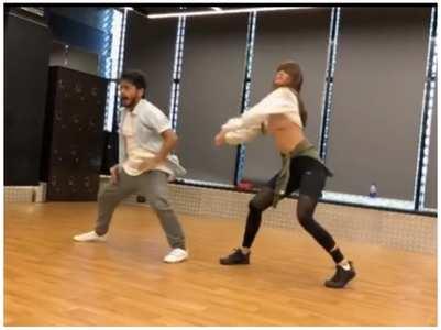 Watch: Disha grooves to 'Bum Bum Tam Tam'