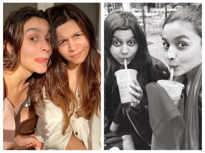 Cute pics of Alia bonding with sister Shaheen