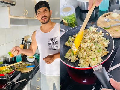 Arjun Bijlani makes egg 'bhurji'; watch