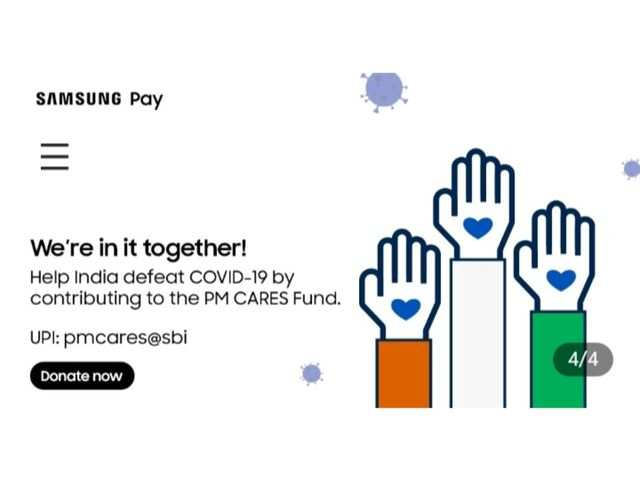 Samsung Pay now lets you donate to PM CARES fund