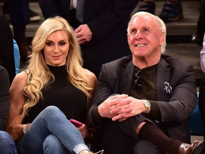 Charlotte Flair with her father Ric Flair