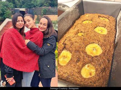 Alia bakes delicious looking banana bread