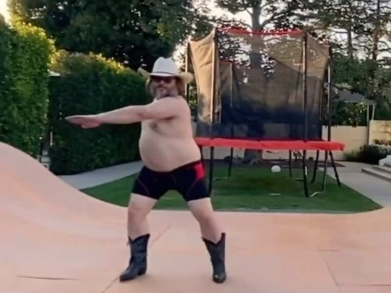Jack Black in a still from the video that he uploaded on Instagram