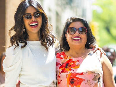 PC's mother on her glamorous attires