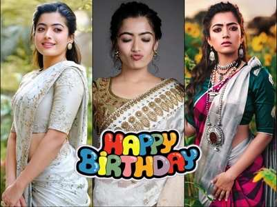 Bday Spl! Rashmika is a sight for sore eyes in sarees