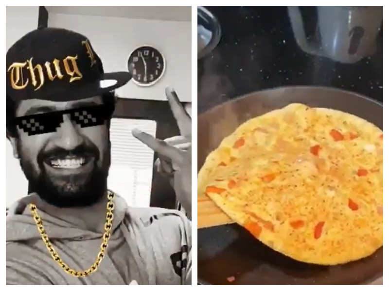 """Watch: Vicky Kaushal is on cloud nine as he becomes the latest entrant in the elite club of """"The Omelette Flippers"""""""