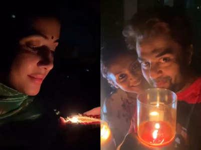#9pm9minutes: TV actors light diyas