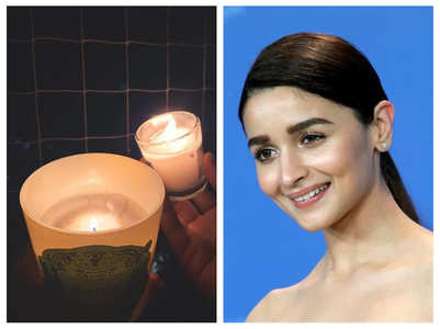 Alia shares picture of candles with a post