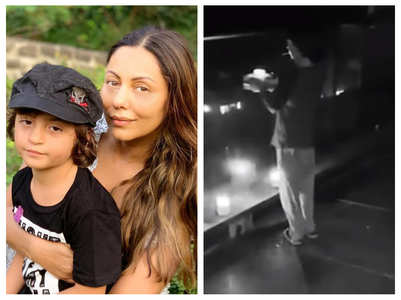 Gauri shares a video of AbRam lighting diyas