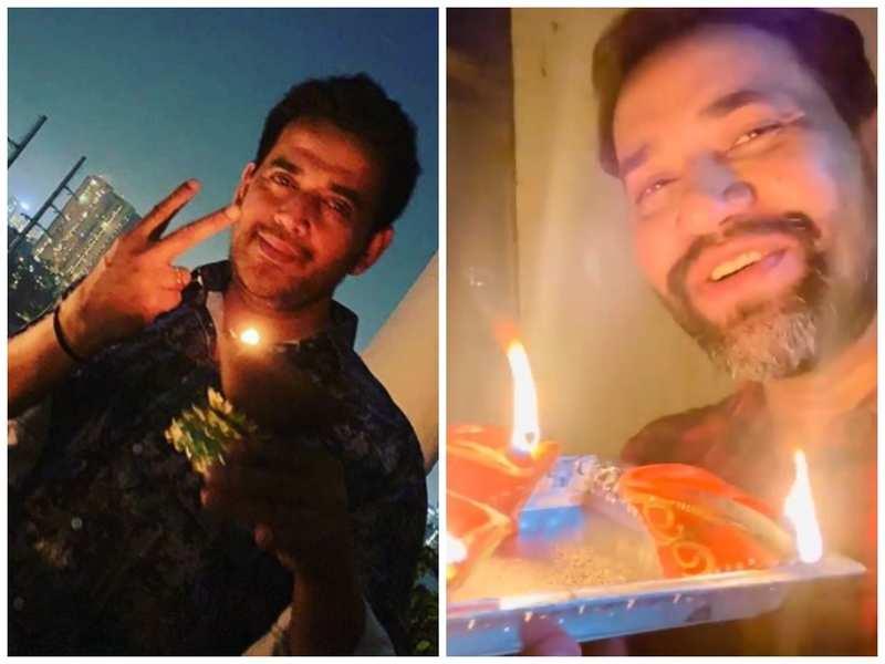 #9PM9minute: Ravi Kishan, Nirahua, Pawan Singh and other Bhojpuri celebs light candles and diyas