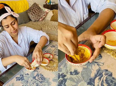 Ankita shares how to make 'ubtan' for Mehr