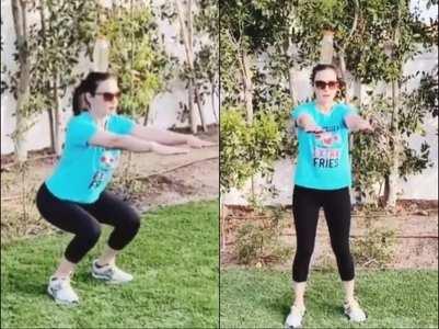 Preity  aces the 'bottle squat challenge'