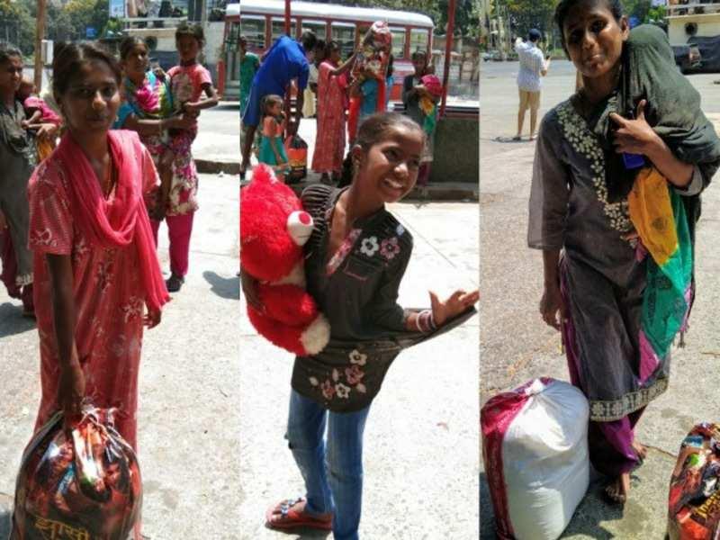 Street children wear their brightest smiles after receiving supplies