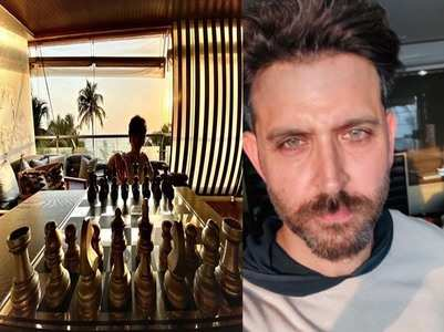 Pic: Hrithik plays chess with his son