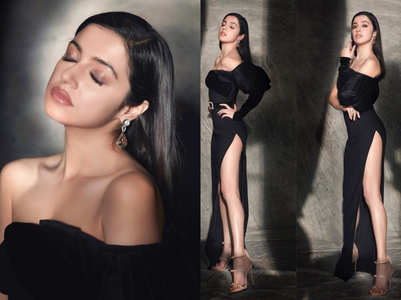 Divya Khosla Kumar's thigh-high slit black gown is the sexiest party outfit of the season