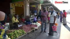 Market functioning at Gandhipuram bus stand