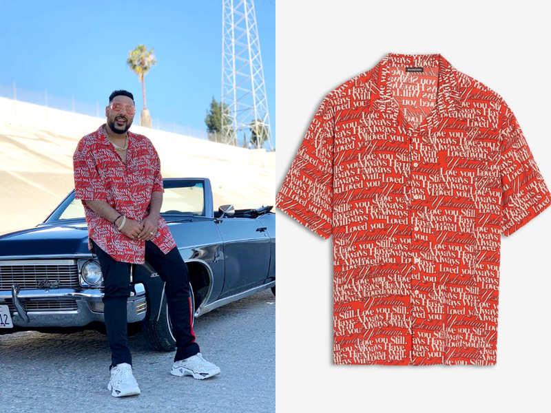 You will be shocked to know the price of Badshah's red LOVE shirt