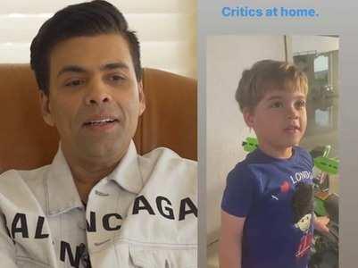 "Video: KJo's son finds his films ""boring"""