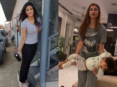 Shweta Tiwari lifts her son for workout; watch